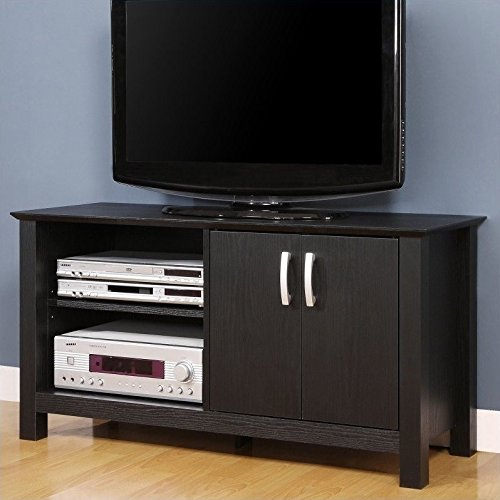 Walker Edison 44'' Castillo TV Stand Console - Black by Walker Edison Furniture Company