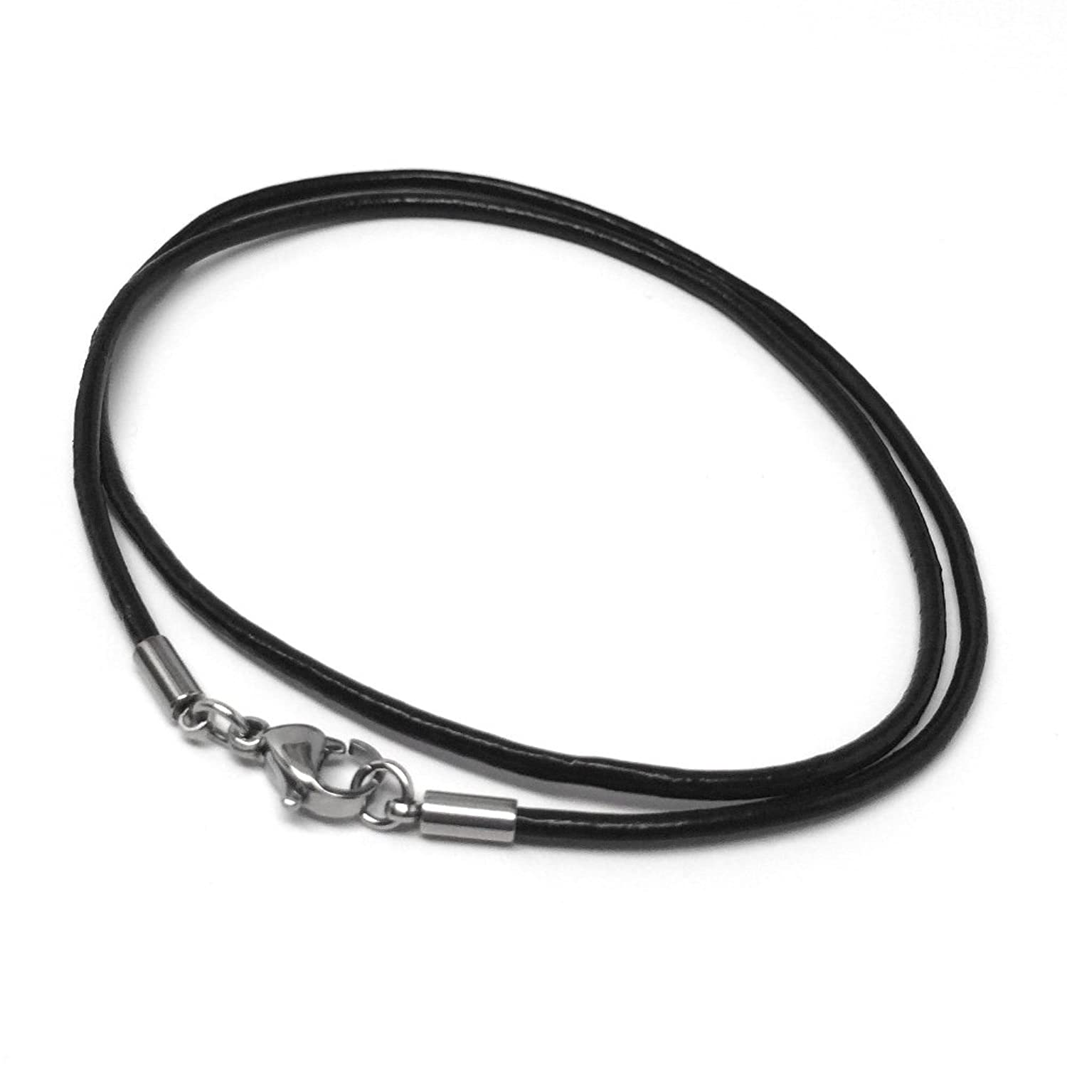 zoom unique black men necklaces with co stainless leather beads steel necklace john