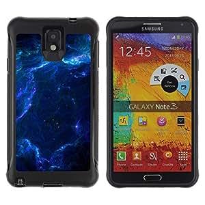"""Pulsar iFace Series Tpu silicona Carcasa Funda Case para SAMSUNG Galaxy Note 3 III / N9000 / N9005 , Azul Glas Nube Galaxy Estrellas Planetas Universo"""""""