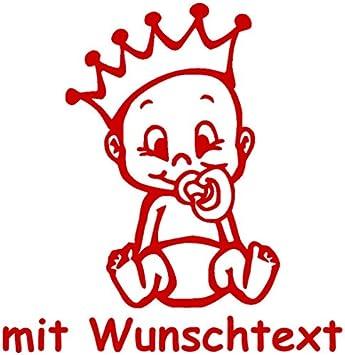 Babyaufkleber Mit Name Wunschtext Motiv 733 16 Cm 20 Farben Und 11 Schriftarten Wählbar Auto