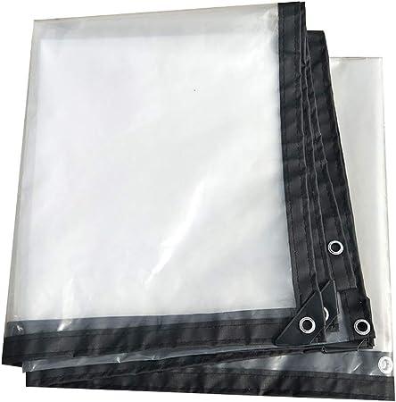 Color : Clear, Size : 1x1M WHAIYAO Telone Trasparente Impermeabile Robusto Panno in Plastica PE Occhielli Anello di Metallo 1 Metro di Distanza for Tenda da Pioggia for Esterni da Giardinaggio