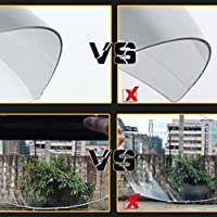 Clear 3-Snap Flip Up Full Shield Visor Universal Motorcycle Open Half Face Helmet Anti Fog-Coating UV Protection by 1X 3-Snaps Flip-Up Visor Full Face Shield