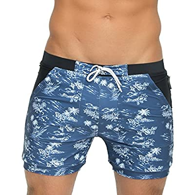 Taddlee Basic Men's Swimwear Swim Surf Trunks Swimsuits Swimming XXL Plus Size Blue | .com
