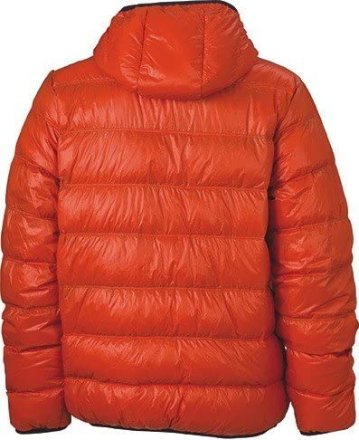 James /& Nicholson JN1060 Mens Down Puffer Jacket Dark Orange//Carbon Size XL