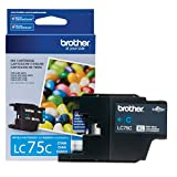 Brother Printer LC75C High Yield XL Series Cartridge Ink - Retail Packaging Cyan