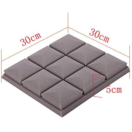 Kintaz Wall Sticker, Clearance Sale! Acoustic Foam Sound Proof Foam Acoustic Panels Nosie Dampening Foam Studio Soundproofing Padding (White, 30x30x5cm) by Kintaz (Image #1)