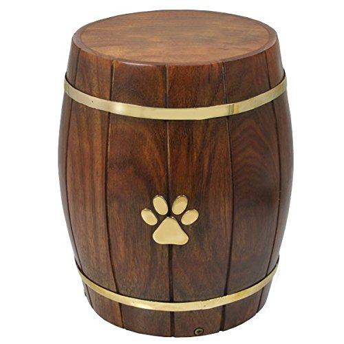 Memorial Gallery Pets SWH-007 Paw Print Barrel Cremation ...