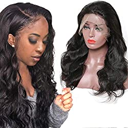 Releek Body Wave Human Hair Wigs With Baby Hair Pre Plucked Lace Frontal Wigs for Black Women Lace Front Wigs with Baby Hair Pre Plucked Remy Hair 150% Density Body Wave Wigs (26, Natural Color)