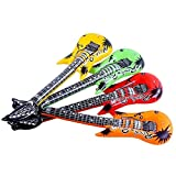 Hotsellhome New 4Pcs 55cm Inflatable Air Guitar Accessories For Party Kids Party Decor Toy Gift