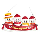 NFL Football DIY Personalized Christmas Ornament Kansas City Chiefs 2-3-4-5 Head Family Team Ornament Do it yourself (4 Head)