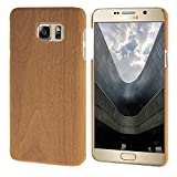 MOONCASE Case for Samsung Galaxy Note 5 Wood Skin Hard Rubber Back Cover Wood-Brown