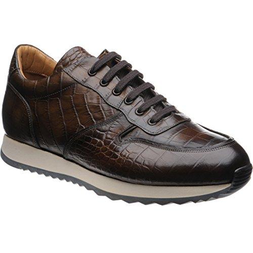 Herring Herring Estoril - Zapatos de cordones para hombre marrón marrón oscuro (cocodrilo)