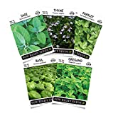 #3: Sow Right Seeds - Italian Herb Garden Seed Collection - Basil, Oregano, Parsley, Sage, and Thyme; All Non GMO Heirloom Seeds with Full Instructions for Planting an Easy to Grow Kitchen Garden, Indoor