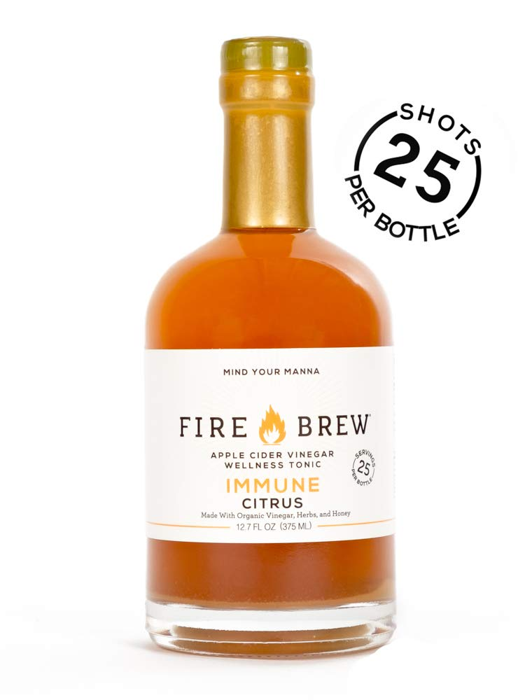 Fire Brew Apple Cider Vinegar Based Citrus Health Tonic, 12.7oz , 25 shots by Fire Brew
