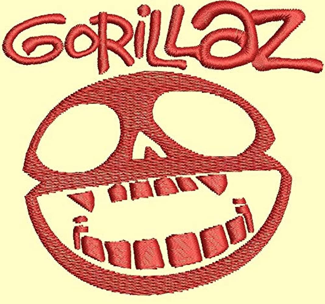 Gorillaz Musik Rock Punk Icon Fun Coche Polo Bordado 100% algodón ...