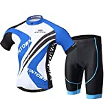 Cycling Jerseys Blue Shirts Maillot Breathable Quick Dry Clothing Men's Bicycle Team Racing Short Sleeves Jacket Suit