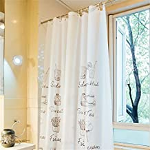 Shower Curtain Liner Mildew Resistant, Waterproof Anti-bacterial 59x72-Inch Non Toxic, Eco-Friendly, Bathroom Curtains