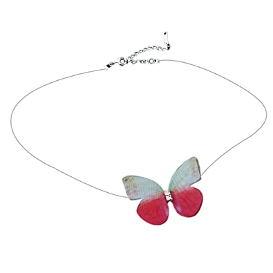 Necklaces For Women Sterling Silver Fashion Jewelry Under 5 Dollars DYTA Popular Invisible Fish Line Chiffon