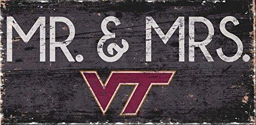 Fan Creations Virginia Tech University Mr /& Mrs Sign Multi