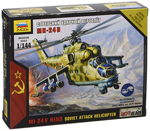 Zvezda Models Mil-24 Russian Attack Helicopter (1/144 Scale)