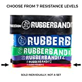"""Rubberbanditz 41"""" CrossFit Pull Up Assistance Resistance Exercise Bands. - Choose from 7 sizes, Resistance from 5-200 lb. For Assisted Pull Ups Calisthenics CrossFit Powerlifting Physical Therapy Pilates Stretching Full-Body Functional Fitness Workouts"""