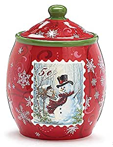 Amazoncom Christmas Cookie Jar Kitchen Dining