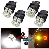 cciyu 2PCS 1156 LED Light Bulbs 22SMD EX Chipsets Red Light Replacement fit for Backup Reverse Light