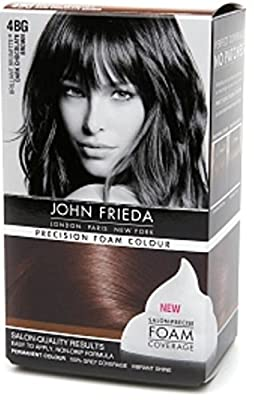 John Frieda Precision Foam Colour Brilliant Brunette (Dark Chocolate Brown) 4BG 1 Each