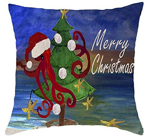 r Christmas Tree Farm Bring Home The Merry Happy New Year OH holy Night Cotton Linen Decorative Throw Modern Pillow Case Cover Cushion Cover 18