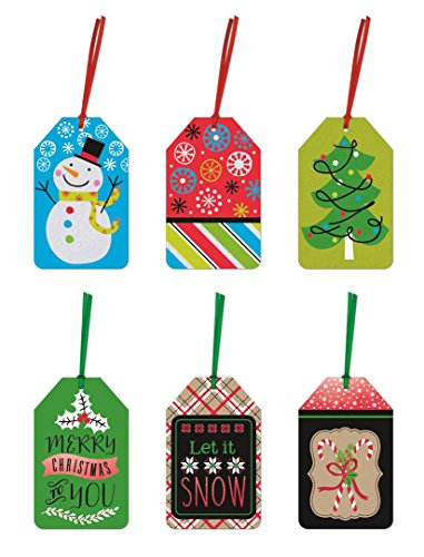 Pack Christmas Gift Tags Different