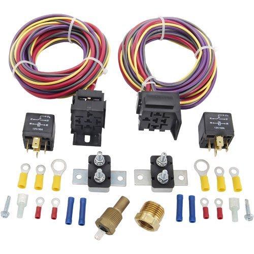 (JEGS 10570 Dual Fan Wiring Harness & Relay Kit)