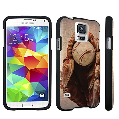Price comparison product image DuroCase ® Samsung Galaxy S5 Hard Case Black - (Vintage Baseball Glove)