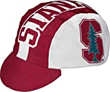 Adrenaline Promotions NCAA Stanford University Cycling Cap, One Size, Red/White