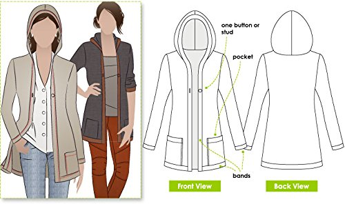Style Arc Sewing Pattern - Heidi Cardigan (Sizes 04-16) - Click for Other Sizes Available