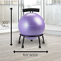NEW Gaiam Adjustable Custom Fit Balance Ball Chair Blue FREE SHIPPING