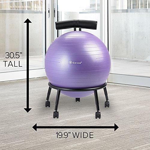 Balance Ball Chair Youtube: Gaiam Adjustable Custom-Fit Balance Ball Chair, Stability