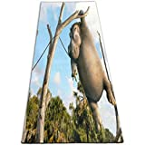 Yoga Mat Hippo Animal Fun Humor Vintage 1/4-Inch Thick Sports Mats For Pilates, Fitness & Workout