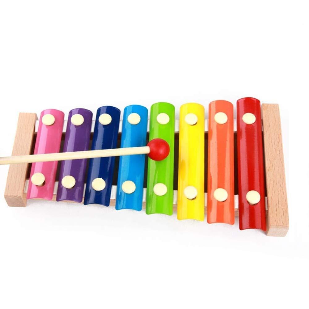 木製音楽玩具 Vacio Kids 知育玩具 幼児 子供 男の子 女の子 マレット付き 8音 メタルキー付き   B07HCW84LV