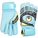 Mens UHLSPORT ELIMINATOR SOFT ROLL FINGER COMPETITION Goalkeeper Gloves For Soccer