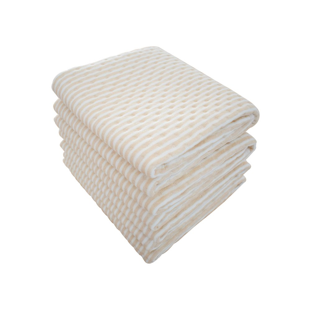 """Waterproof Bed Pad Incontinence Mattress Protector Natural Colored Cotton Underpads for Senior Citizen The Elderly Aged Golden-AGER People Baby Toddler Pet Spills Bedwetting Enuresis 19.7"""" * 27.6"""""""