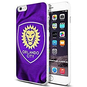 MLS Orlando City FC Soccer Logo , , Cool iphone 6 4.7 Smartphone Case Cover Collector iphone TPU Rubber Case White [By PhoneAholic]