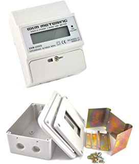 ekm metering electric kwh meter and indoor enclosure kit bundle - 3-wire,  single