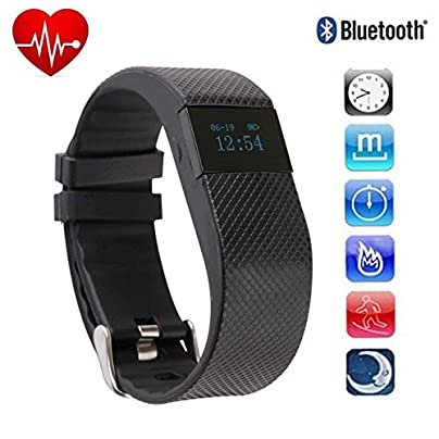 HowiseAcc Heart Rate Monitor Fitness Tracker TW64 Pro Portable Bluetooth 4 0 Activity Tracker Wireless Smart Bracelet Smart Wristband Sports Band And Sleep Tracker For IPhone Android Smartphone Estimated Price £69.00 -