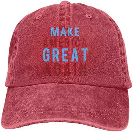1a6c70aa9e11c Waldeal Unisex Make America Great Again MAGA Vintage Adjustable Baseball Cap  Denim Dad Hat