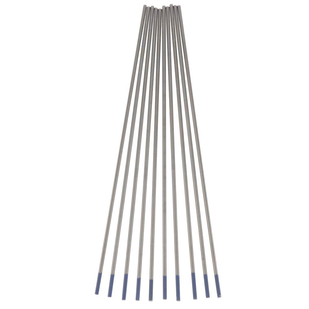 1.6mm 10 Pcs Electrodo de Lanthanated Punta Azul Electrodos de Soldadura de Tungsteno Soldadura de Puente de Arg/ón