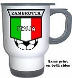 Gianluca Zambrotta (Italy) Soccer White Stainless Steel Mug