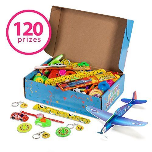 Reca 120 Kids Prizes Party Favors for Kids Party, Birthday Party Toy Assortment , Teachers and Parents Rewards, Carnival Prizes, Pinata Fillers , Stocking Stuffers by Reca Creations