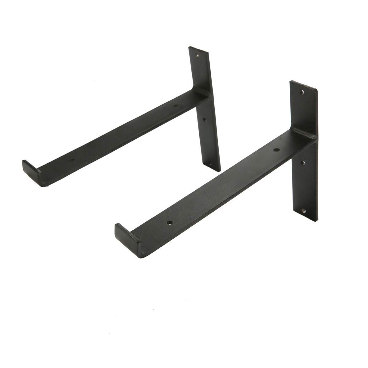 KINGSO Metal Wall Shelf Brackets 8''L x 6''H Rustic Shelf Supports, Flush Fit, Hardware Only - Bracket Set Of 2, Includes Screws & Wall Anchors by KINGSO