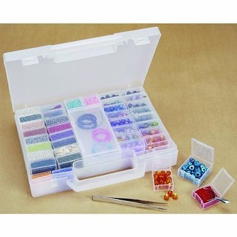 Amazoncom 55 PC Jewelry Designer Bead Organizer Carrying Case w
