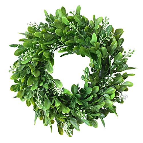 (Evoio Artificial Leaves/Flower Wreath, 17.7